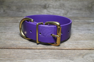 Royal Purple Biothane Dog Collar - Extra Wide - 1.5 inch (38mm) wide