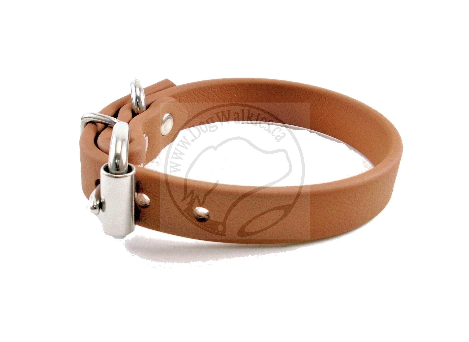 "Caramel Brown Biothane Dog Collar - 5/8""(16mm) wide"