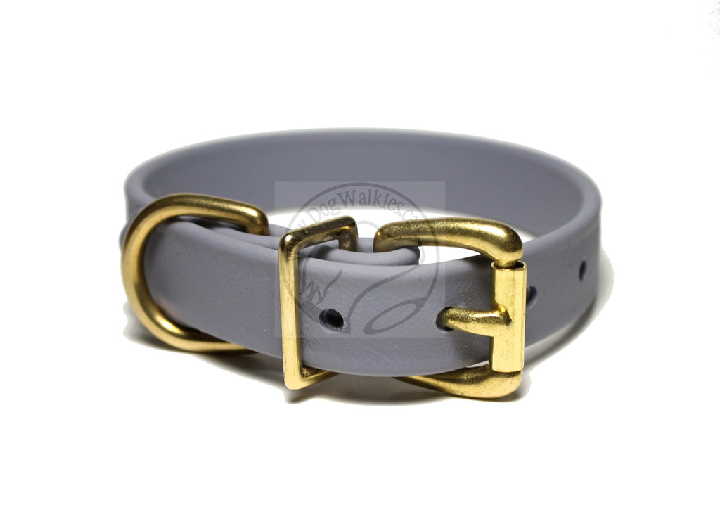 "Stormy Gray Biothane Dog Collar - 3/4"" (19mm) wide"