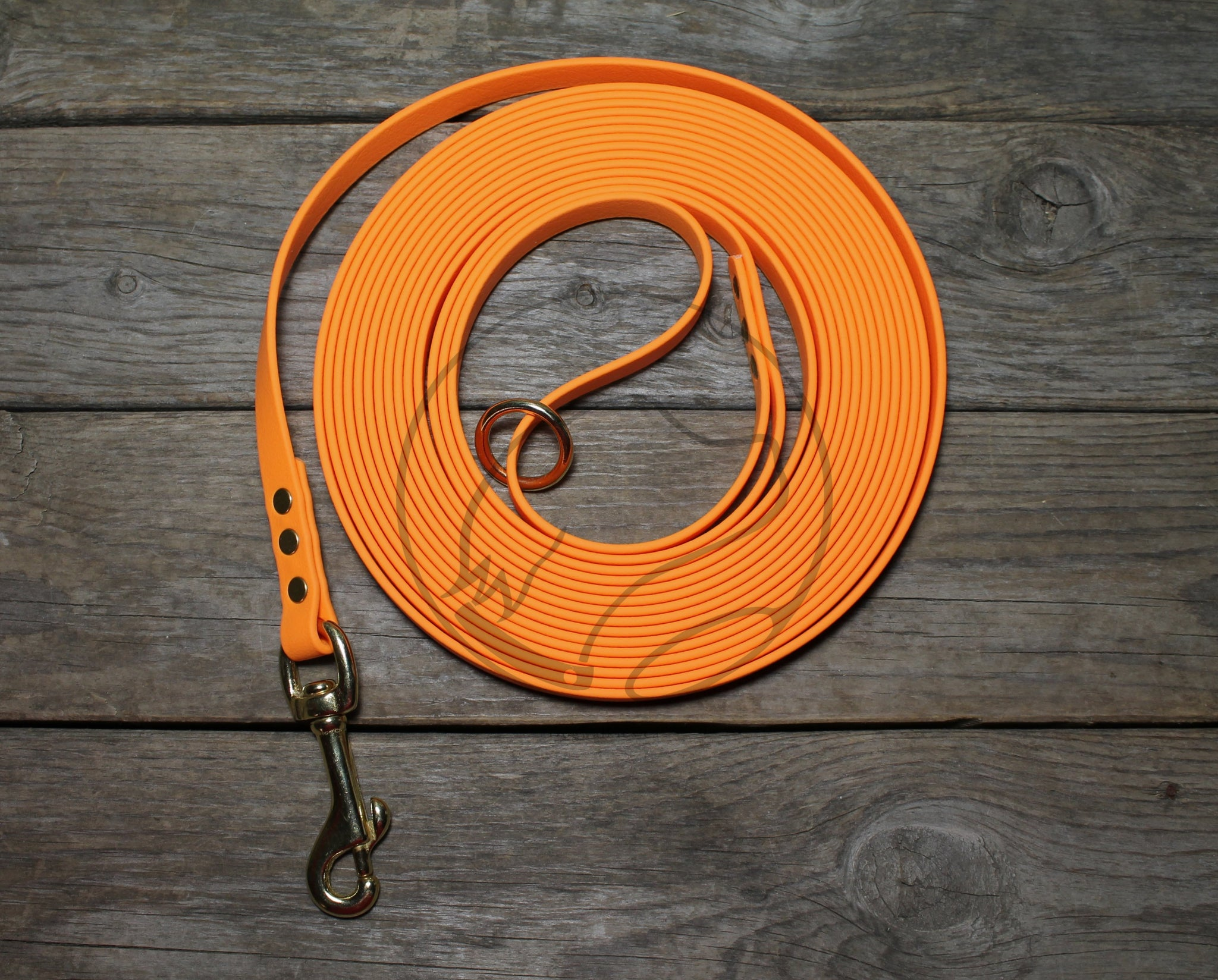 Pumpkin Orange Waterproof Tracking Recall Long Line