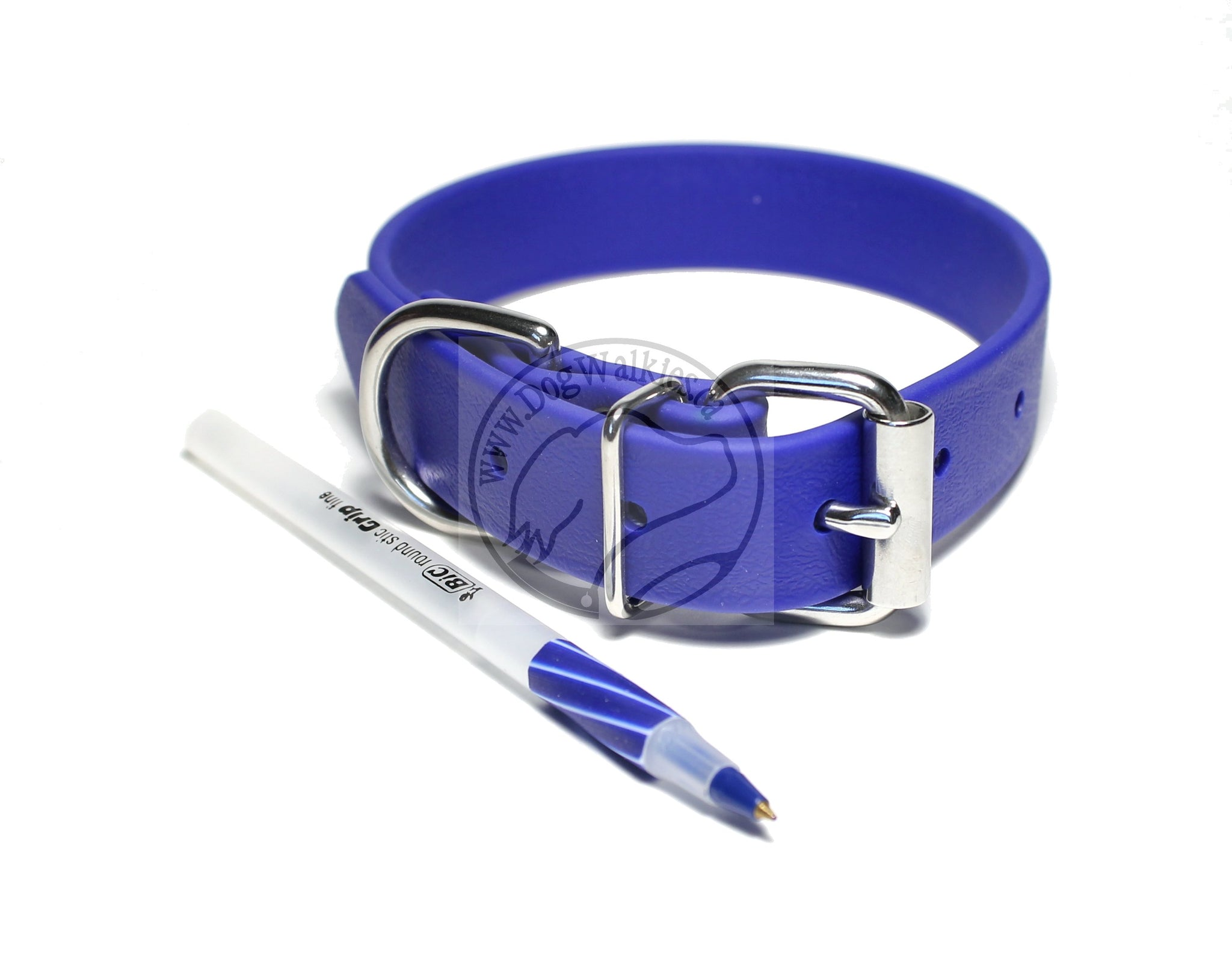 Royal Blue Biothane Dog Collar - 1 inch (25mm) wide