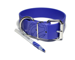 Royal Blue Biothane Dog Collar - Extra Wide - 1.5 inch (38mm) wide
