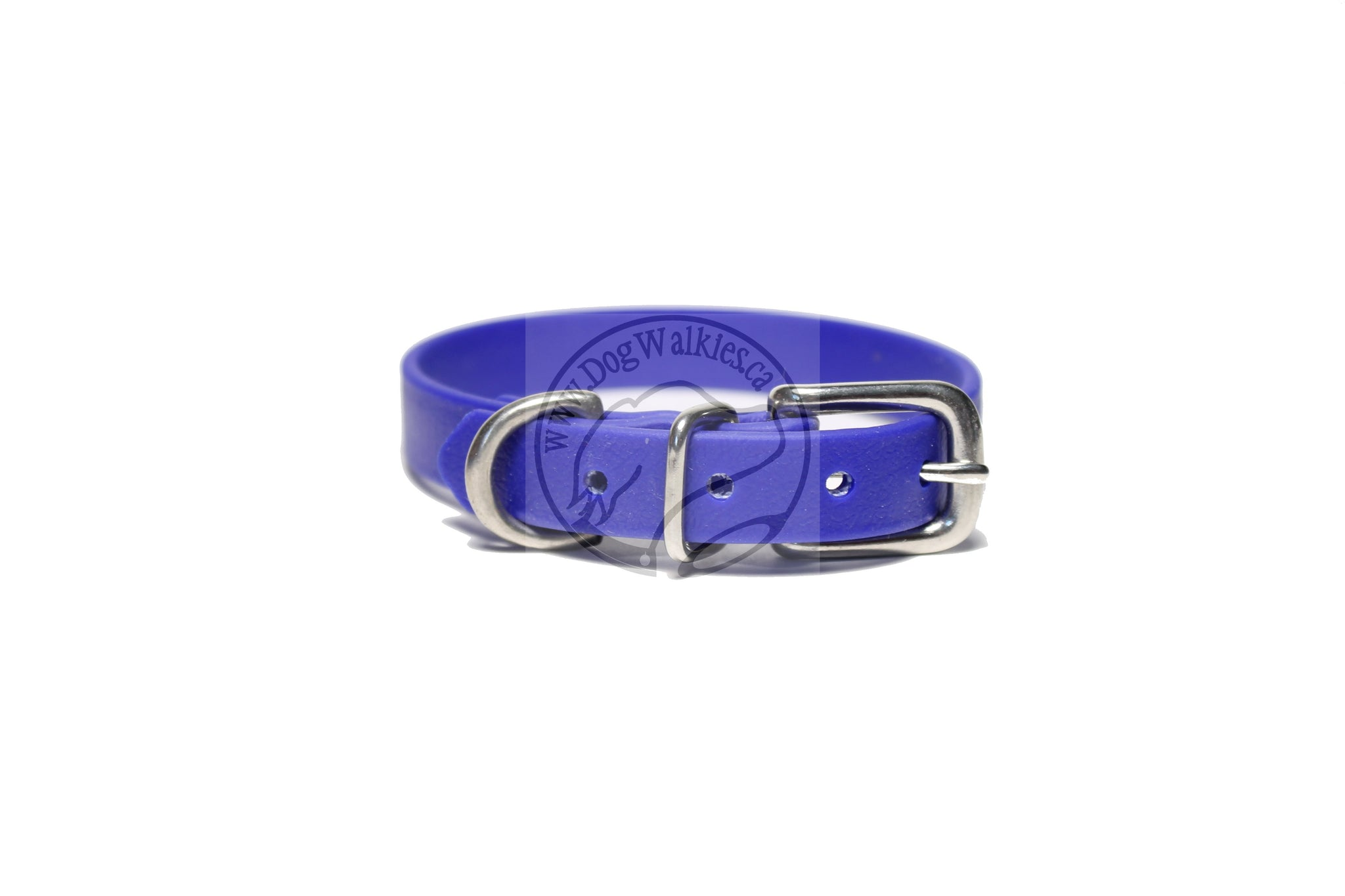 "Royal Blue Biothane Small Dog Collar - 1/2"" (12mm) wide"