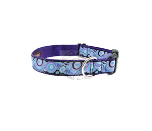 Dreamy swirls - nylon dog collar