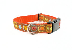 Autumn Woodland Friends - nylon dog collar