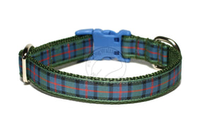 Flower of Scotland tartan - dog collar