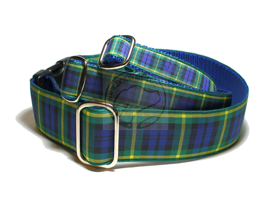 Gordon clan tartan - dog collar