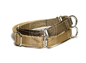 "Martingale Dog Collar 3/4"" (19mm) wide; Simple - Elegant - Strong"
