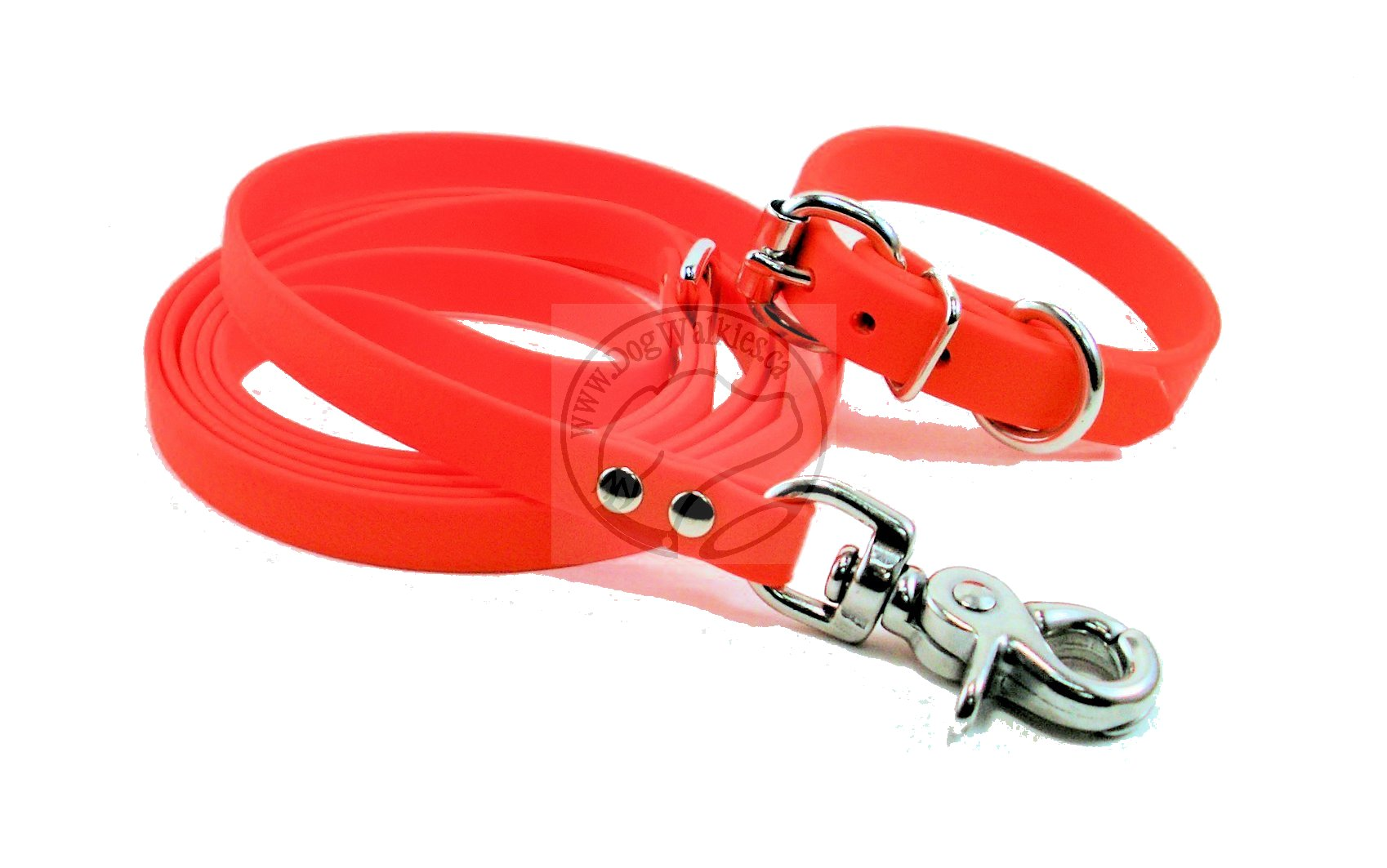 Neon Blaze Orange Small Dog Leash