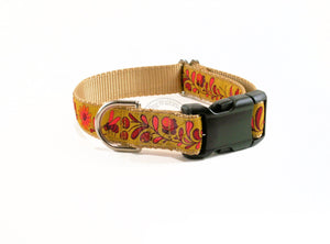 Fall Golden Fields - nylon dog collar