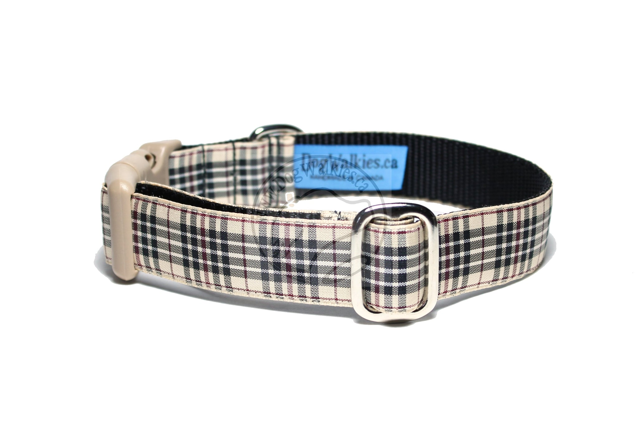 Blackberry tartan - dog collar