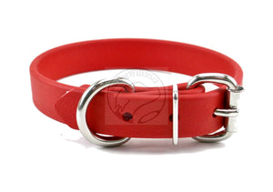 "Poppy Red Biothane Dog Collar - 3/4"" (19mm) wide"