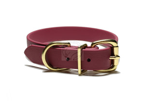 Wine Merlot Biothane Dog Collar - 1 inch (25mm) wide