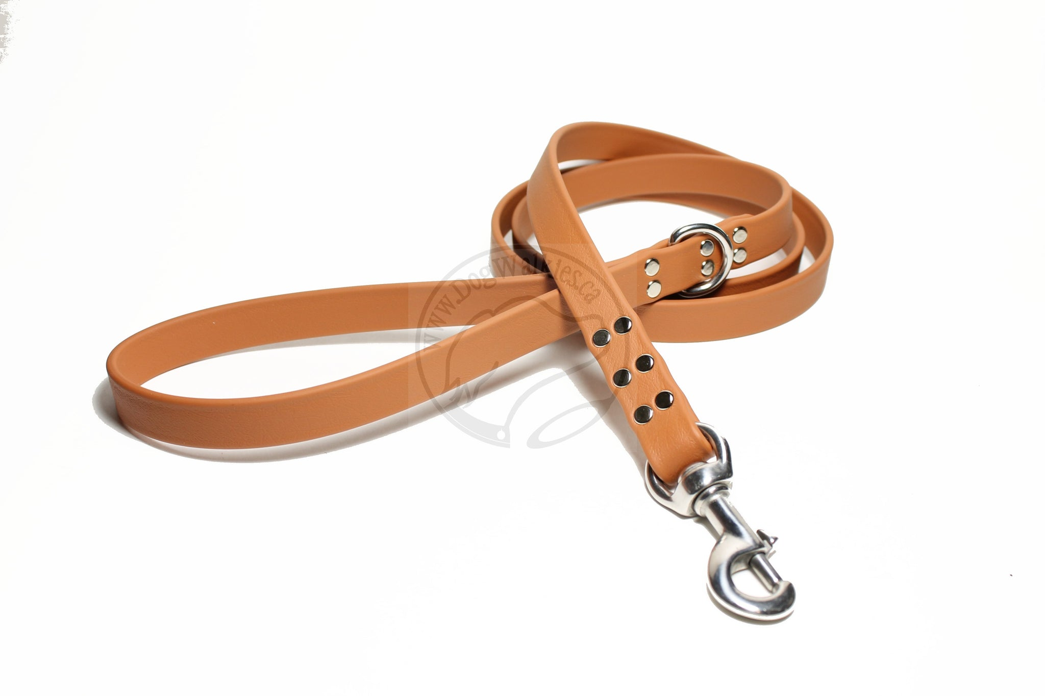 Caramel Brown Biothane Large Dog Leash