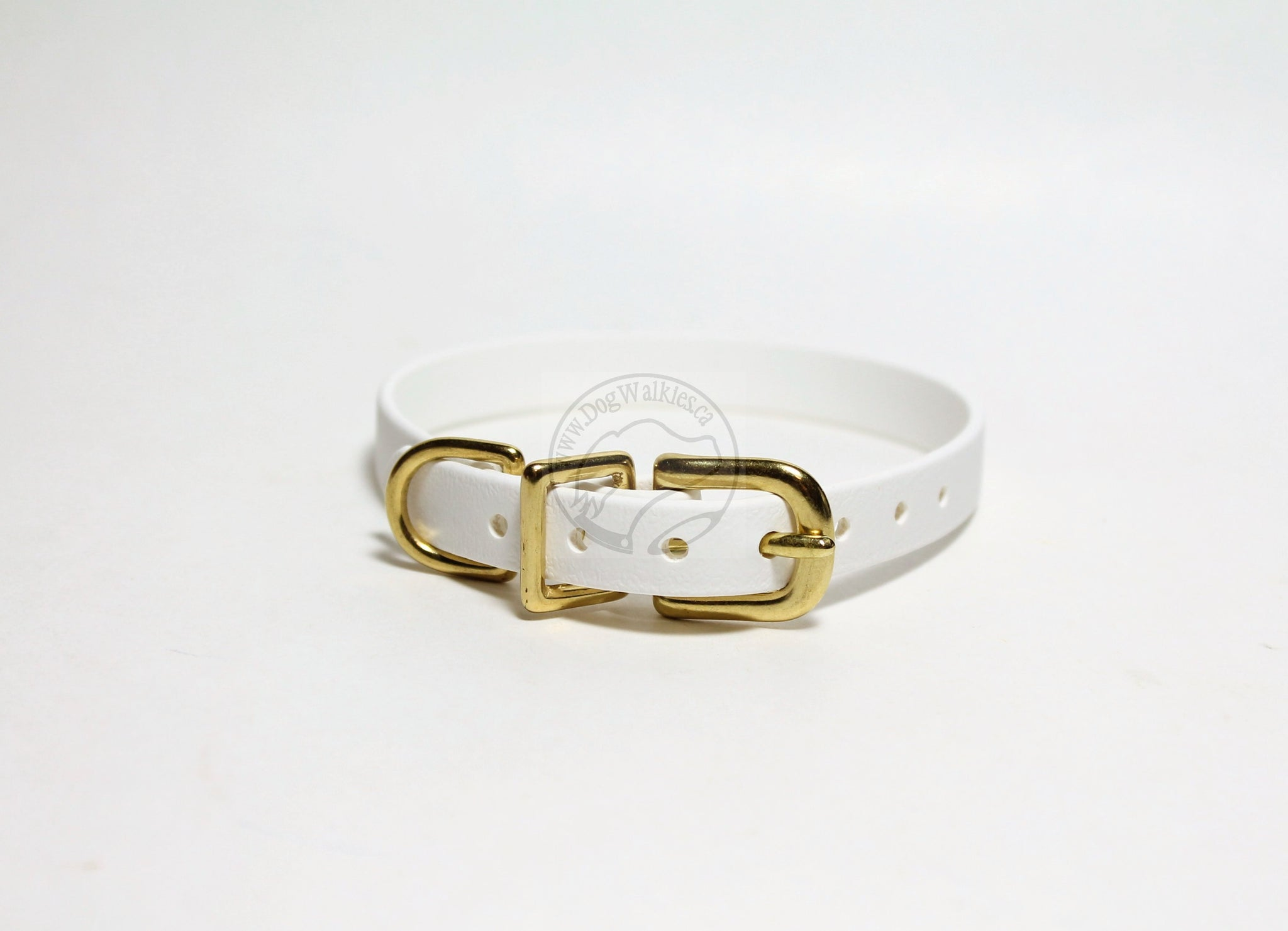 "Cat Collar Non-Breakaway Biothane Collar - 1/2"" (12mm) wide - all colours - Brass Hardware"