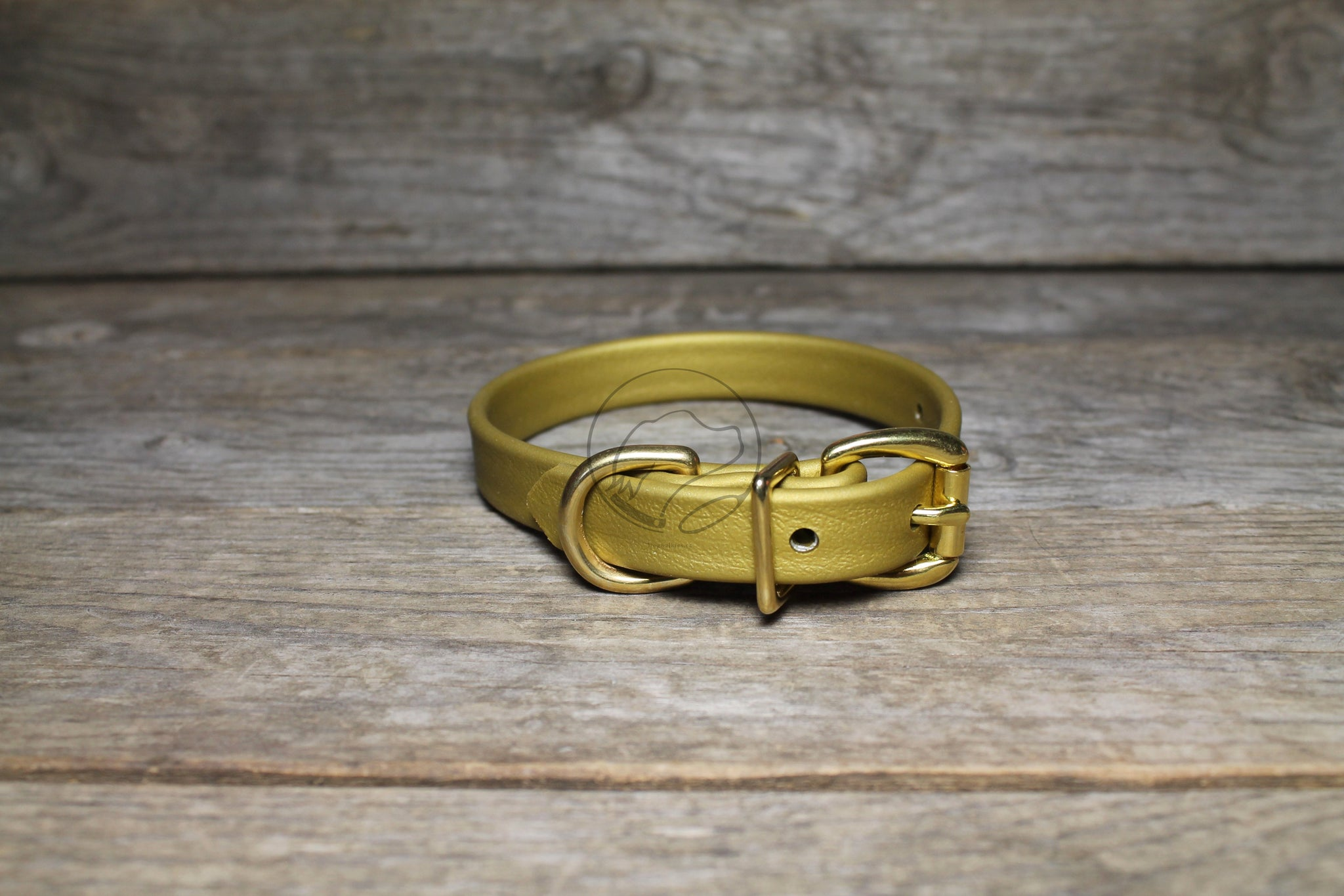 "*NEW* Gold Biothane Dog Collar - 5/8""(16mm) wide"