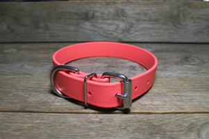 *NEW* Peach Coral Biothane Dog Collar - 1 inch (25mm) wide
