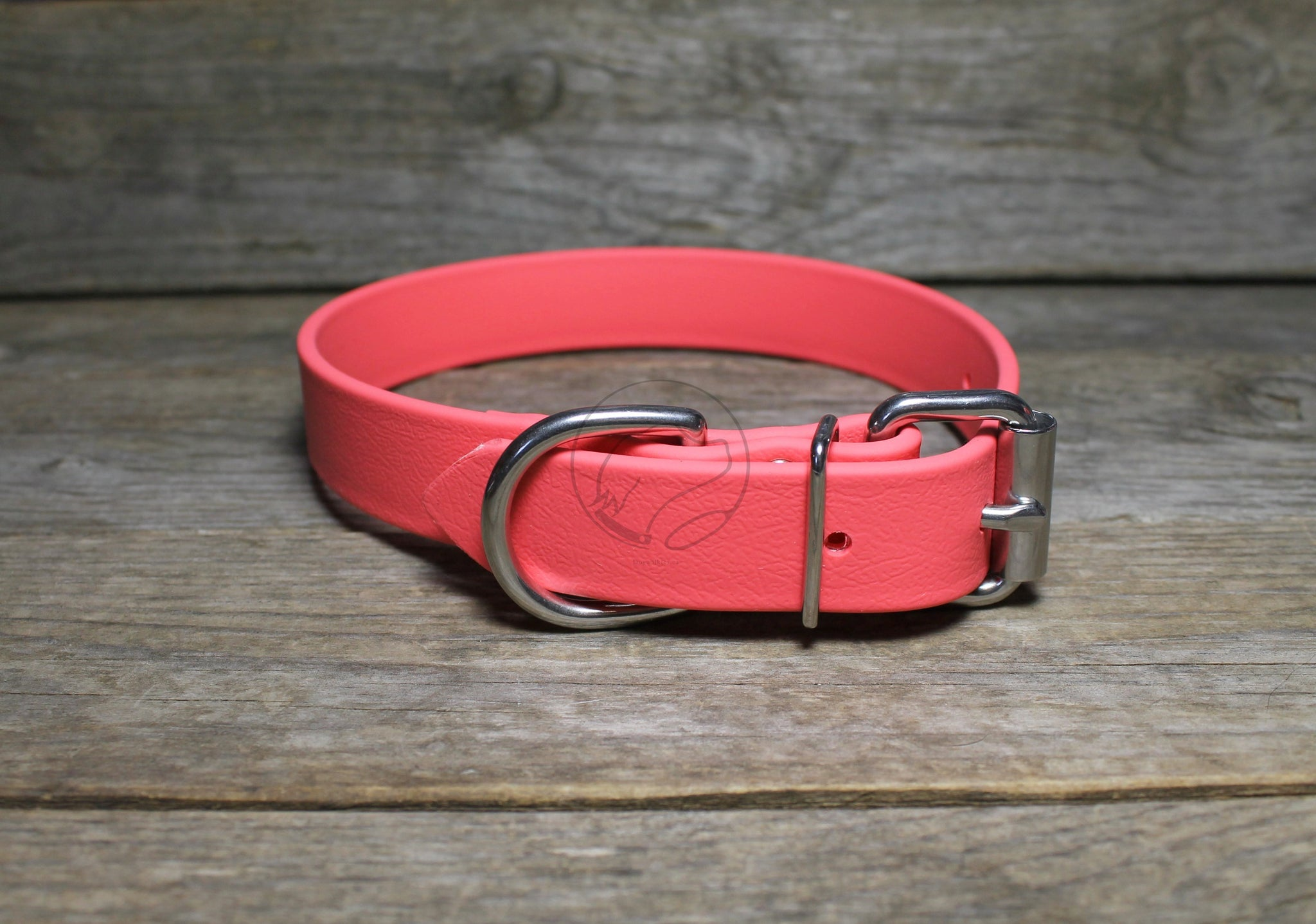 Peach Coral Biothane Dog Collar - 1 inch (25mm) wide