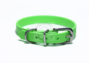 "Cat Collar Non-Breakaway Biothane Collar - 1/2"" (12mm) wide - all colours - Stainless Steel Hardware"