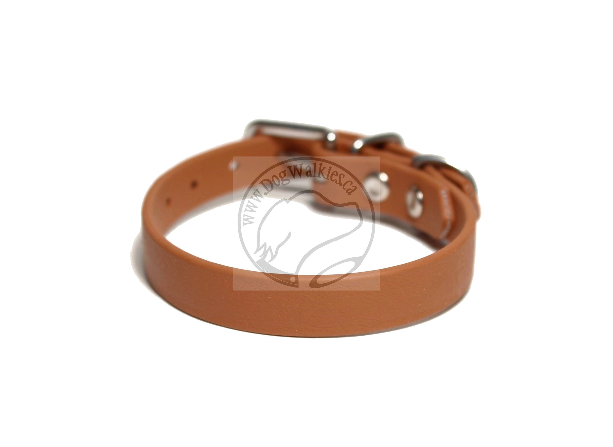 "Caramel Brown Biothane Small Dog Collar - 1/2"" (12mm) wide"