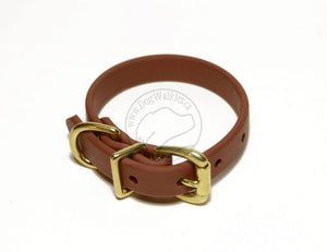 "Milk Chocolate Brown Biothane Dog Collar - 5/8""(16mm) wide"