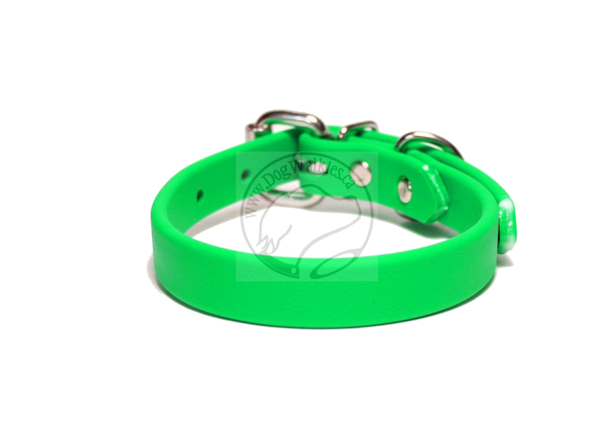 "Neon Apple Green Biothane Dog Collar - 5/8""(16mm) wide"