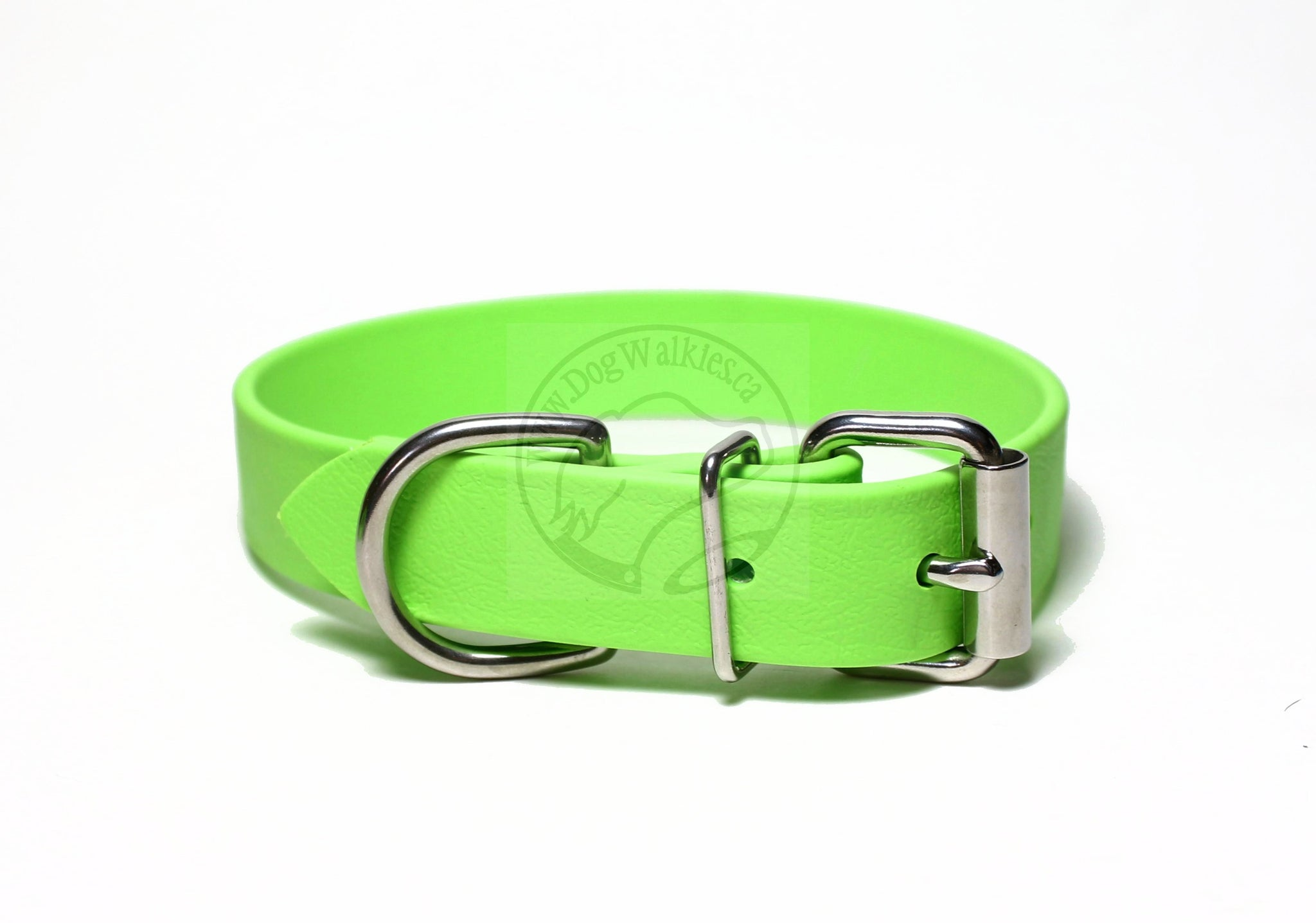 *NEW COLOUR* Lime Green Biothane Dog Collar - 1 inch (25mm) wide