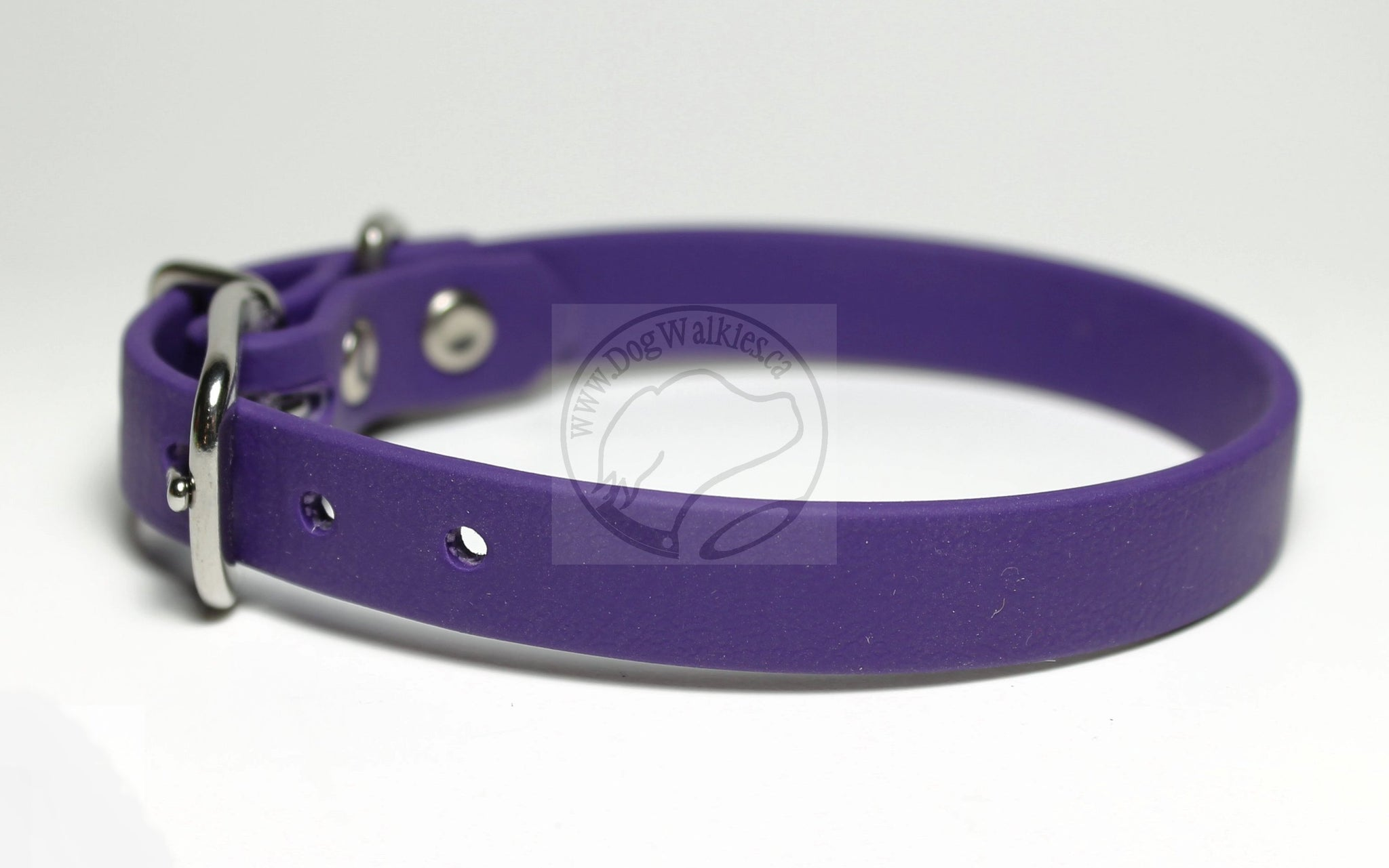 "Royal Purple Biothane Small Dog Collar - 1/2"" (12mm) wide"