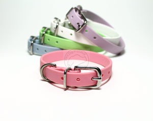 "Bubblegum Pink Biothane Small Dog Collar - 1/2"" (12mm) wide"