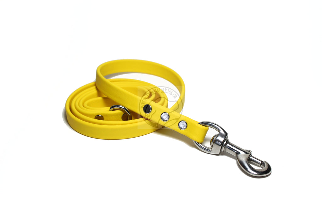 Sunflower Yellow Biothane Dog Leash