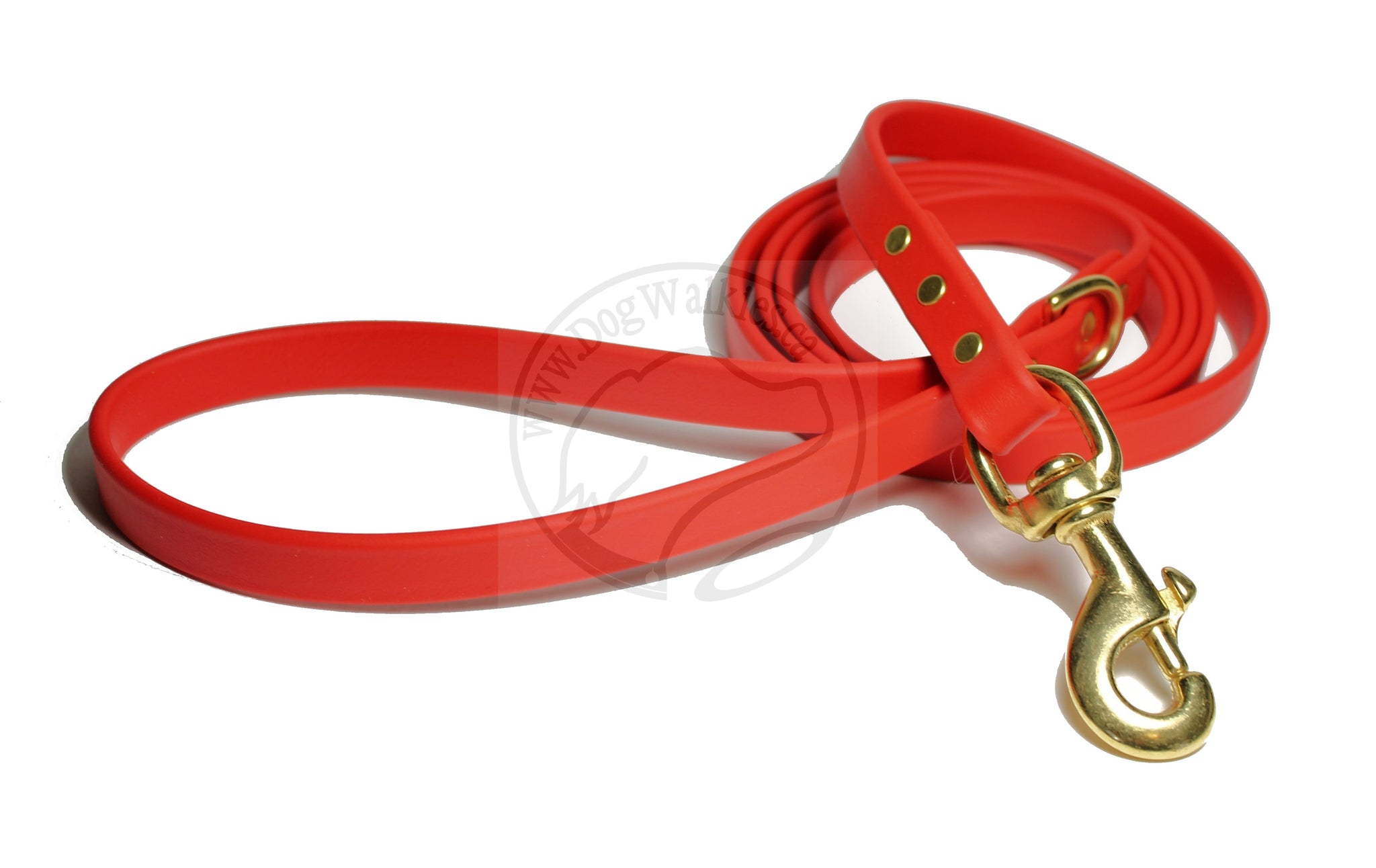 Poppy Red Biothane Dog Leash