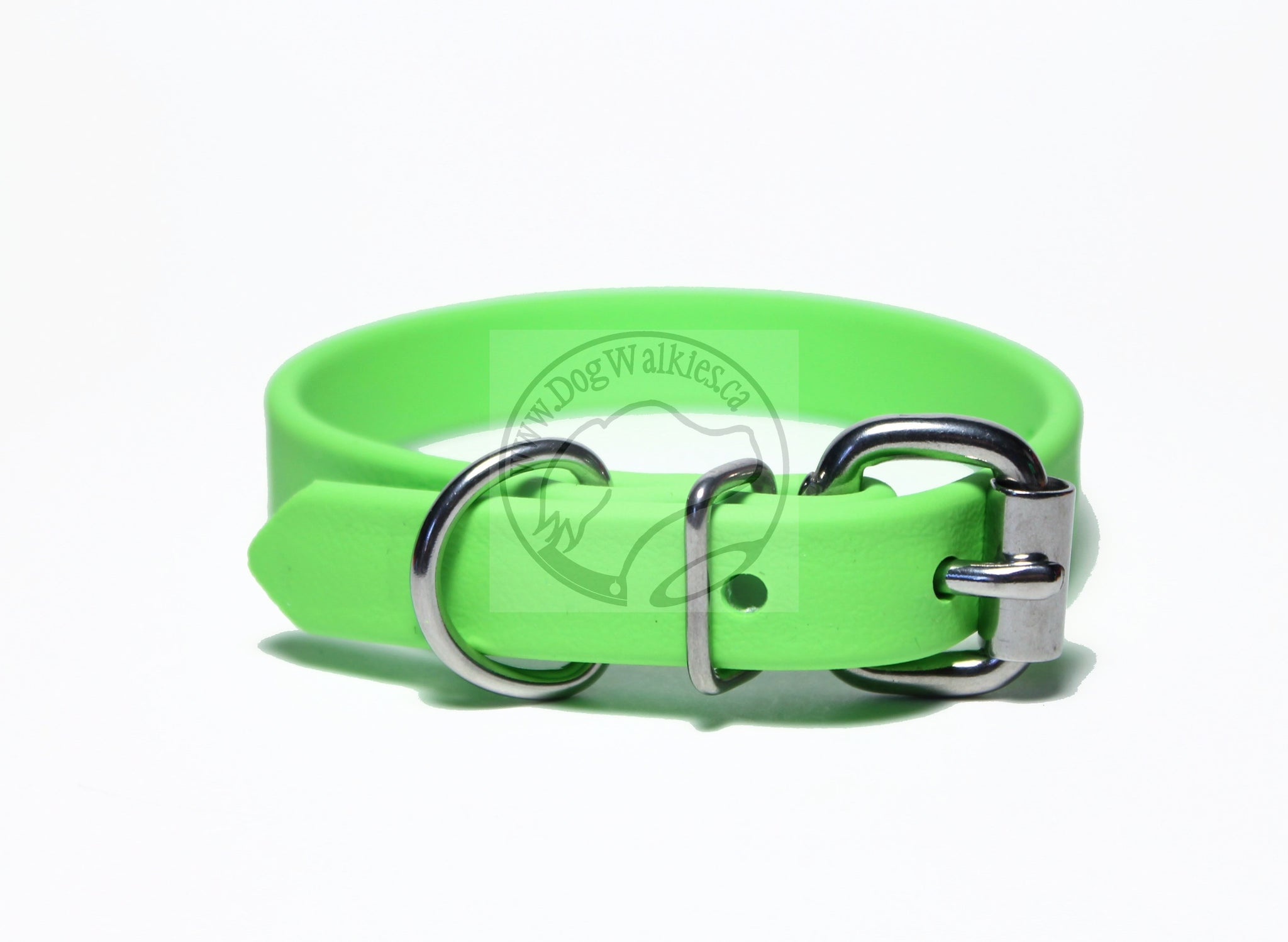 "*NEW* Lime Green Biothane Dog Collar - 5/8""(16mm) wide"