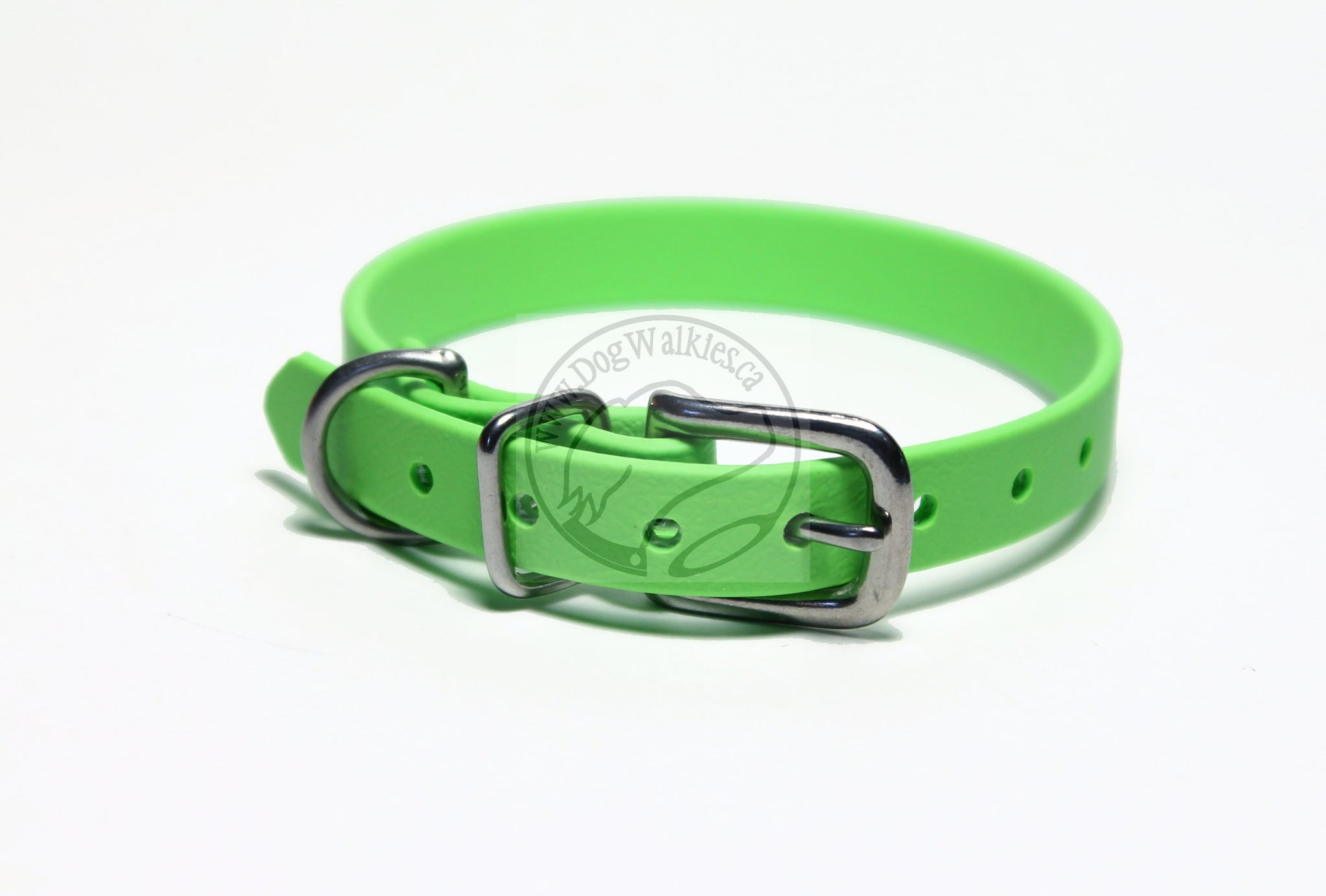 "Lime Green Biothane Small Dog Collar - 1/2"" (12mm) wide"