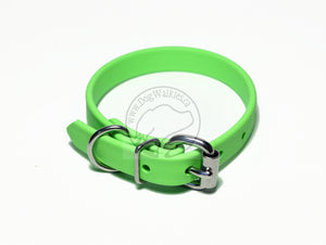 "Lime Green Biothane Dog Collar - 5/8""(16mm) wide"