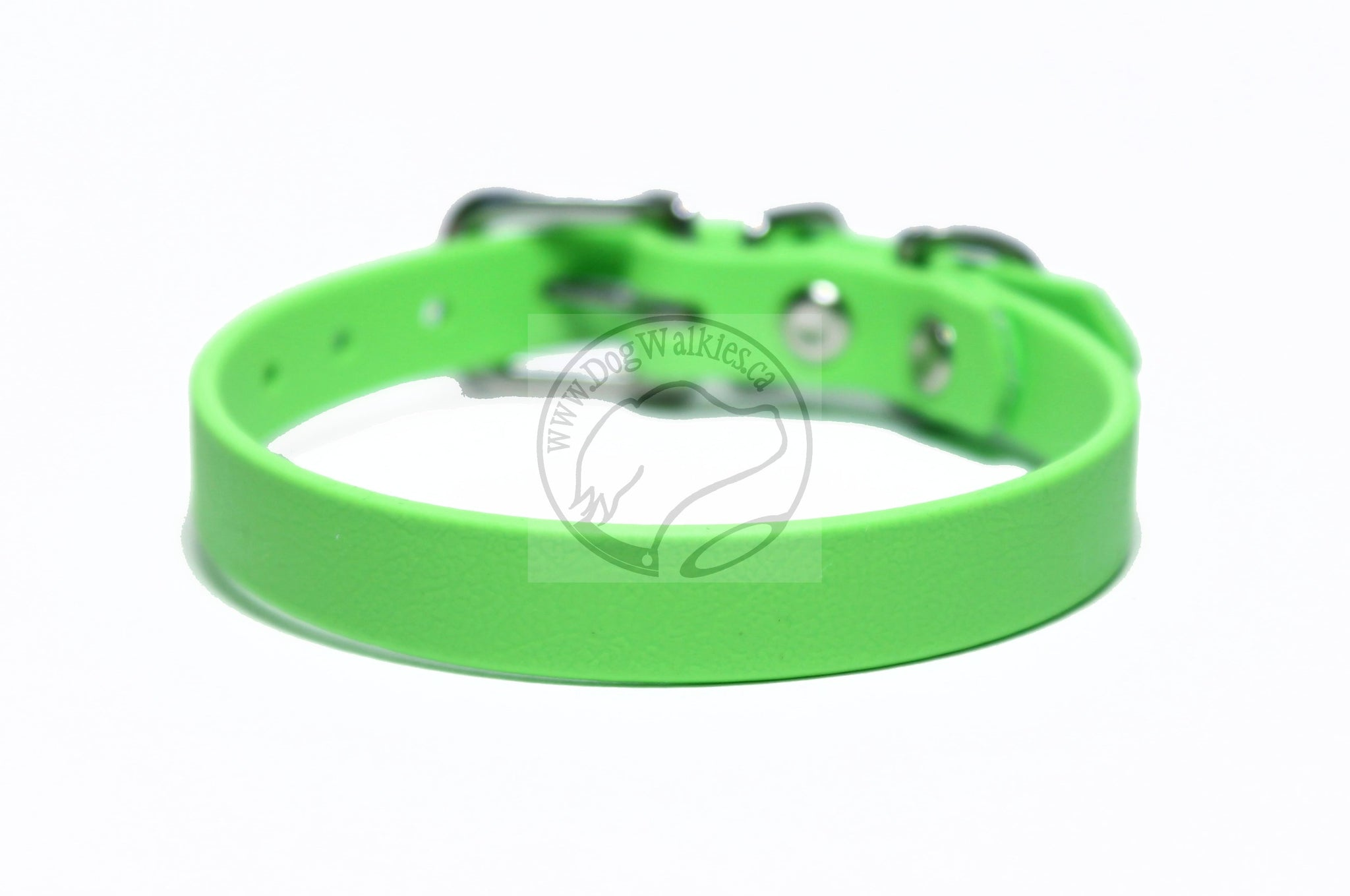 "*NEW* Lime Green Biothane Small Dog Collar - 1/2"" (12mm) wide"
