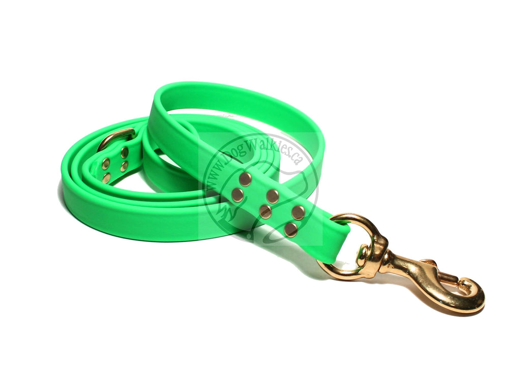 Neon Apple Green Biothane Large Dog Leash