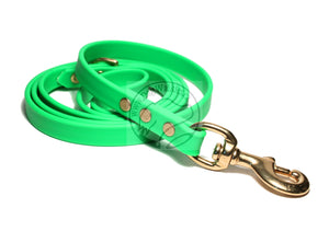 Neon Apple Green Biothane Dog Leash