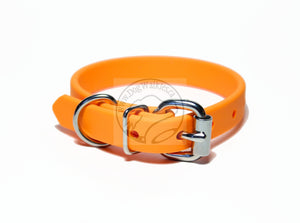 "*NEW* Pumpkim Orange Biothane Dog Collar - 5/8""(16mm) wide"