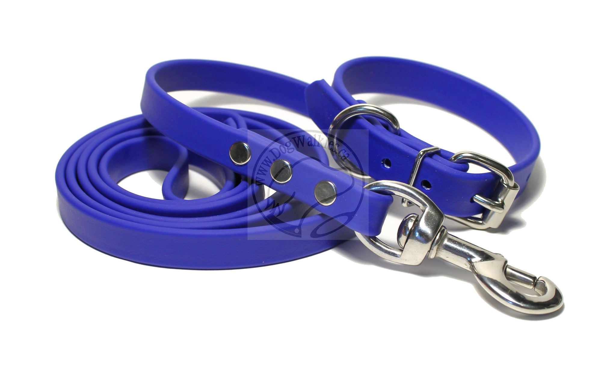 "Royal Blue Biothane Dog Collar - 3/4"" (19mm) wide"