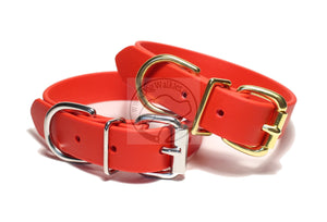 Poppy Red Biothane Dog Collar - 1 inch (25mm) wide