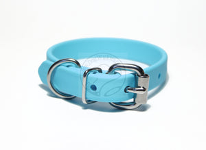 "*NEW* Frozen Blue Biothane Dog Collar - 5/8""(16mm) wide"