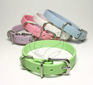 "Pastel Mint Green Biothane Small Dog Collar - 1/2"" (12mm) wide"