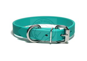 "Teal Biothane Dog Collar - 3/4"" (19mm) wide"