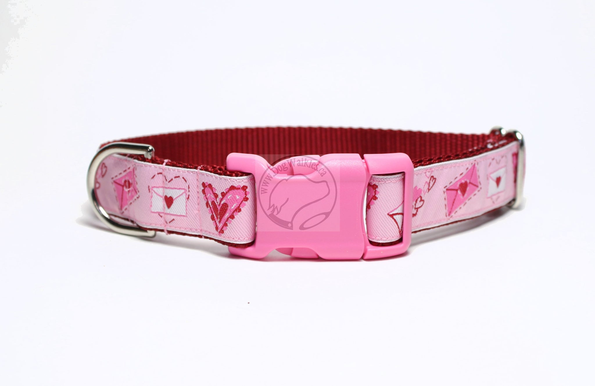 Puppy Love Notes - Valentine nylon dog collar
