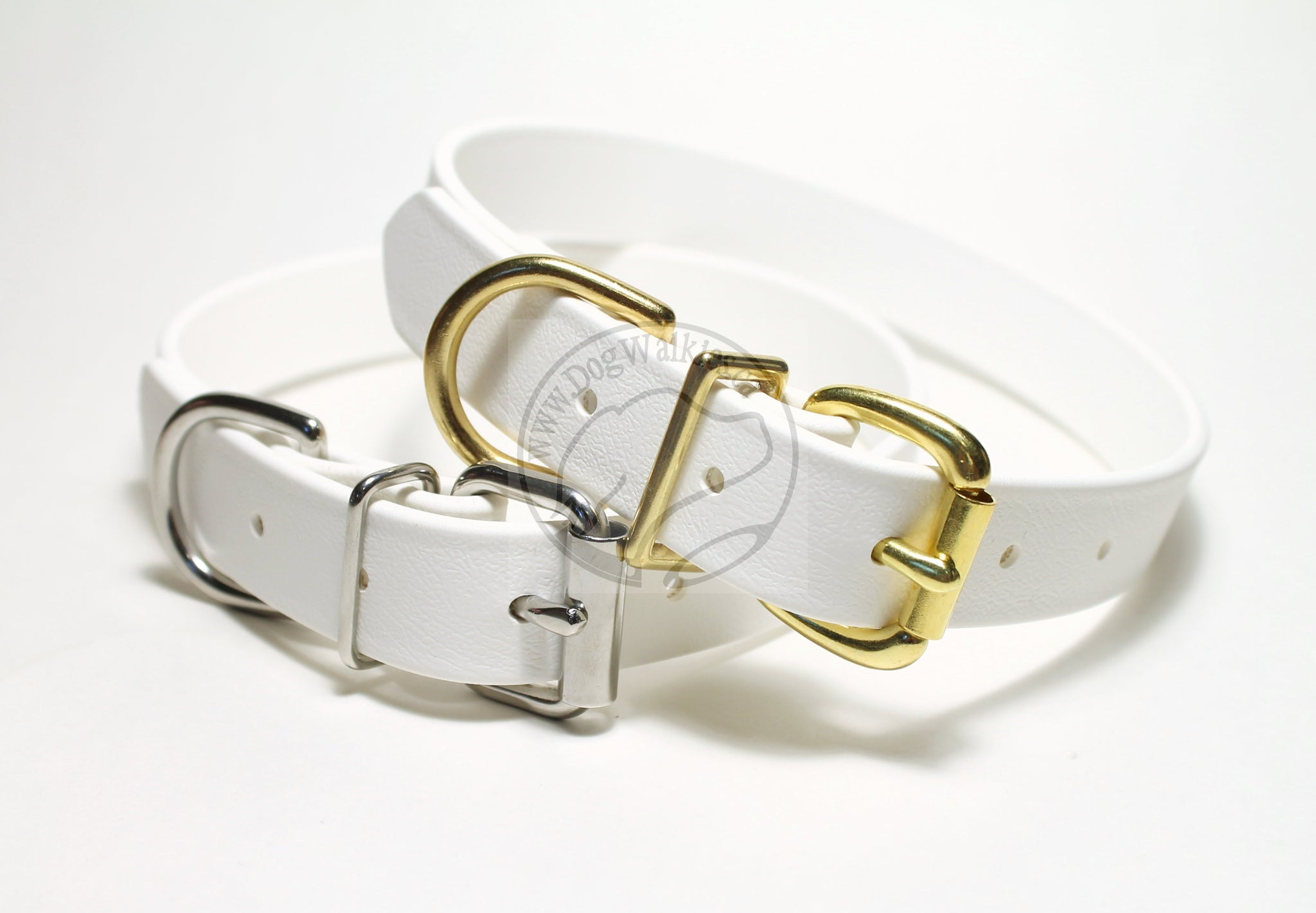 Snow White Biothane Dog Collar - 1 inch (25mm) wide