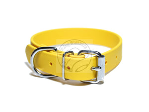 Sunflower Yellow Biothane Dog Collar - 1 inch (25mm) wide