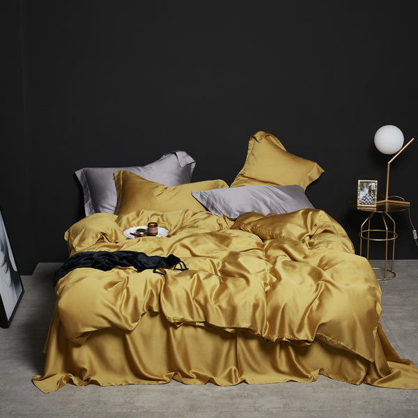 Tencel Silk 4-Peice Duvet Cover Set