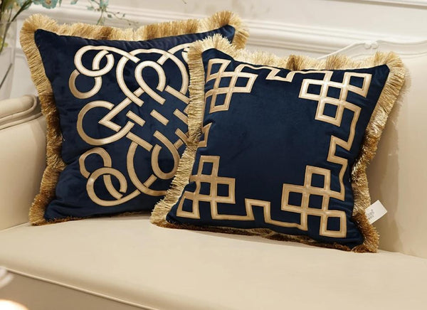 Luxury Floral Embroidered Cushion Covers-Decorluv