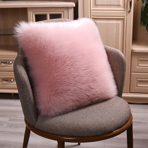 Faux Wool Fluffy Cushion Cover-Decorluv