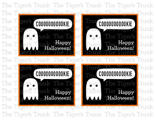 Coooookie Happy Halloween cards (instant download)
